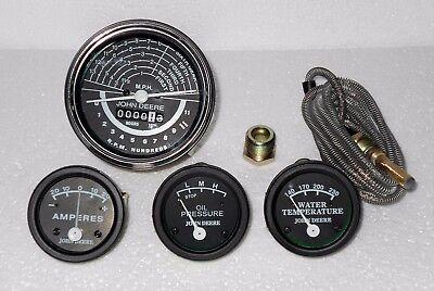 John Deere Tachometer Temp Oil Amp Tractor 50 Black Face