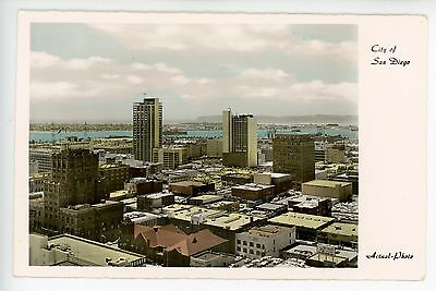 Rppc Sized Vintage Photo San Diego La Jolla Co Old Skyline Ca  1950S