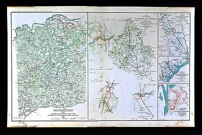 Civil War Map Spotsylvania County - Hanover Junction - Savannah Charleston Coast