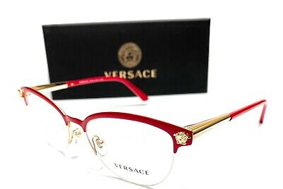 Versace VE1235 1376 Red Women's Authentic Eyeglasses Frame 53-17