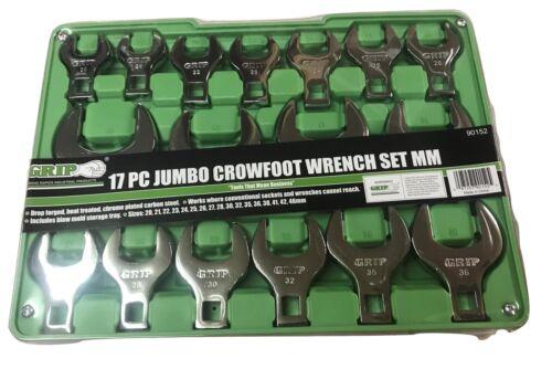 17pc GRIP Metric Jumbo Crow Foot Wrenches Set Crowfoot 20-46
