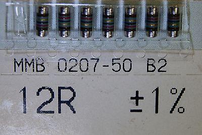 200pcs Resistor 12 Ohm 1w 1 Melf 300v 50ppm Smd Mmb0207-50-b2 12r Beyschlag