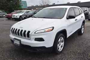 2016 Jeep Cherokee Sport REMOTE STARTER, HEATED SEATS, ONLY 40,0