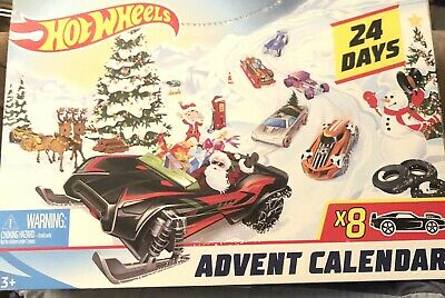 Hot Wheels Advent Calendar 24 Days 8 x Vehicles - Sealed Unopened Brand New