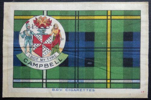 CAMPBELL Clan Tartan and Coat of Arms 1922 SILK card 6