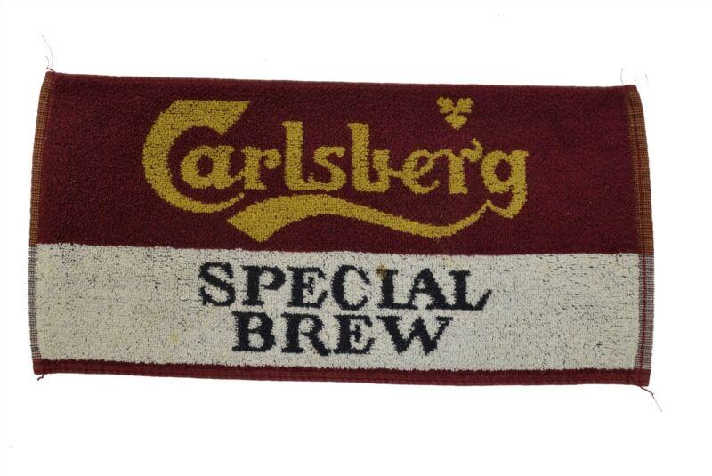 """Vintage Bar Towel Carlsberg Special Brew Beer (8"""" x 17.5"""")"""