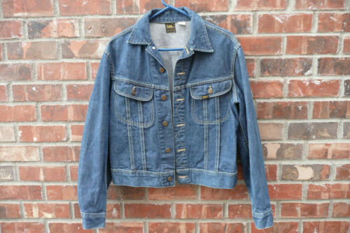Vintage *Lee* Sanforized Mens Denim Jacket ~ Union Made ~ Very Good