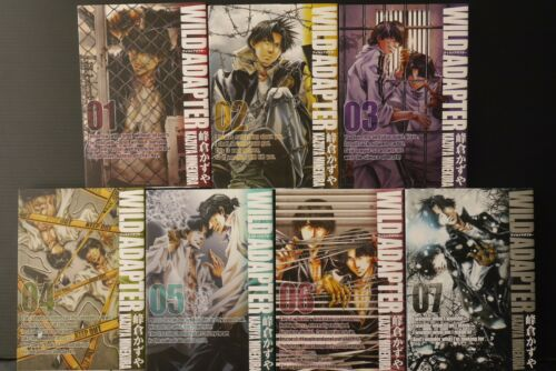 JAPAN Kazuya Minekura manga LOT: Shinsouban Wild Adapter vol.1~7 Set