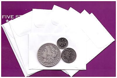 100 White Envelopes 24lb For Coinssmall Parts Envelopes 2-14 X 3-12