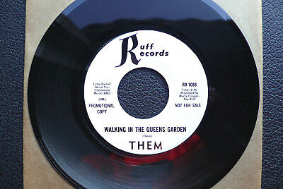 """7"""" Them - Walking In The Queens Garden - US Ruff Promo gebraucht kaufen  Deutschland"""