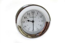 Howard Miller Chrome Plated Solid Brass Wall Clock 4.5 625-144 Clipper City II