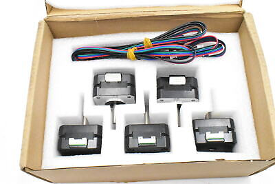 Simax3d Nema 17 Stepper Motor 5pk Set 17hs4023 For 3d Printers And Cnc Extruder
