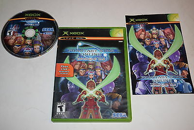 Phantasy Star Online Episode I   Ii Microsoft Xbox Video Game Complete
