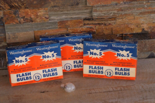 (36) No.5 Westinghouse Flash Bulbs Clear Class M Medium Peak