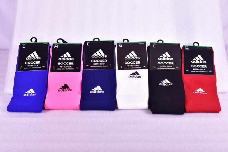 Unisex Adidas Metro IV Knee High Soccer Socks - Choose Color & Size