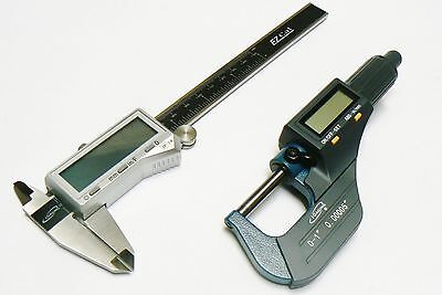 Igaging Digital Electronic Micrometer Caliper Set Machinist Measuring Tool Kit