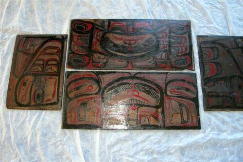 19th Century Antique American Indian Tlingit Northwest Coast Bentwood Box Superb