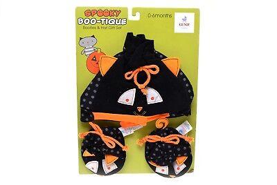 Baby Gund Halloween (GUND Baby Halloween Booties & Hat Gift Set Spooky Boo-Tique 0-6 Months)