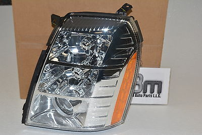 2007 - 2009 Cadillac Escalade EXT ESV LH Driver Side Headlamp Headlight new OEM ()