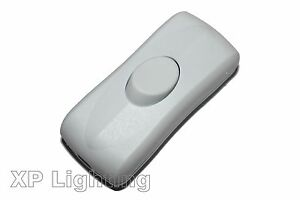 In-Line 2Amp Switch for 2 Cord Flex - White (Suitable for Table/Standards Lamps)