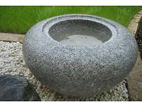 Zeni Gata Bachi  D30cm Granit Japan Brunnen Granitbecken  Wasserbecken Koi Zen
