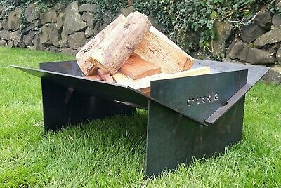 Square Fire Pit Folding Patio Garden Flat-Pack Outdoor Camping Patio Heater Log