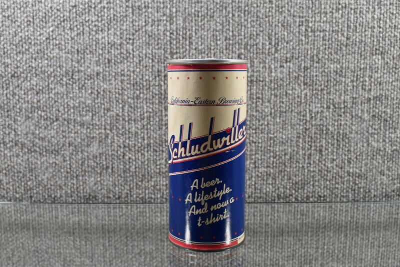 VTG Schludwiller T-Shirt In a Can California Brewing Company