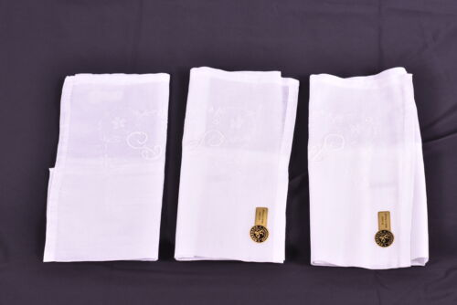 LOT OF 3 Gerbrend Creations Men's All Cotton P Initial Handkerchief