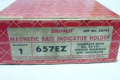 Starrett Model 657ez Magnetic Base Dial Indicator I-7647