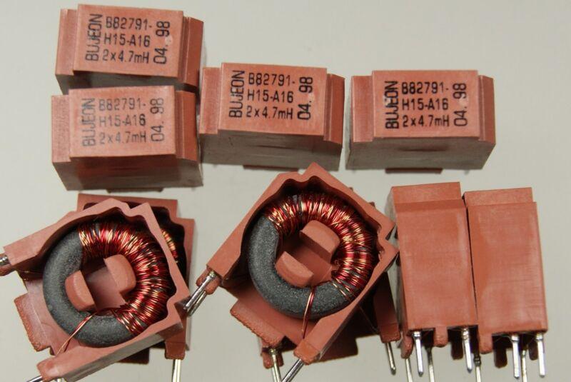 40pcs 2x4.7mH 2x4,7mH inductor common mode chokes 0.1A 80V B82791H15A16 BUJEON
