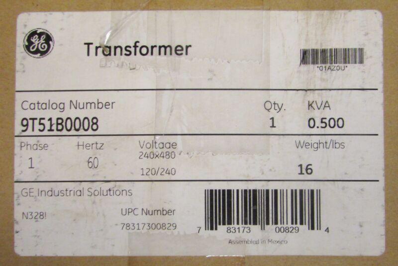 GENERAL ELECTRIC GE Single Phase 0.500 KVA Transformer 9T51B0008