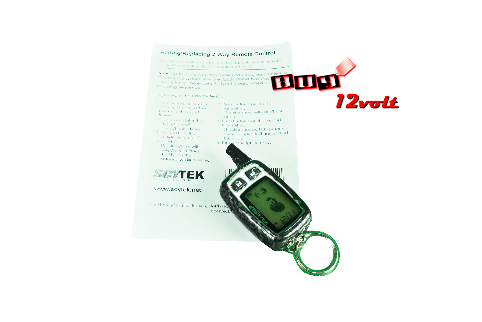Scytek T5-2W 5-Button 2-Way LCD Remote Control for Select Astra & Galaxy