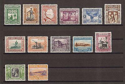 SIERRA LEONE 1933 SG 168/80 MINT Cat £1100