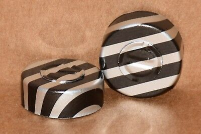 20mm Aluminum Center Tear Serum Vial Seals Black Stripe - Qty. 25