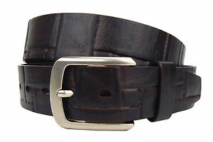 Cinturon-De-Cuero-Marron-Vintage-Ella-Jonte-Mas-Amplio-Unisex-Hebilla-Plata
