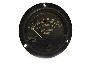 Vintage Triplett Meter Milliamperes Dc 0-35 Ks-8789 Gruen Watch Co Panel Mount