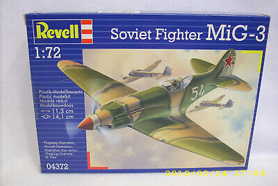 Revell Soviet Fighter MiG-3 Complete Airplane Model Kit. 1/72 scale 04372.