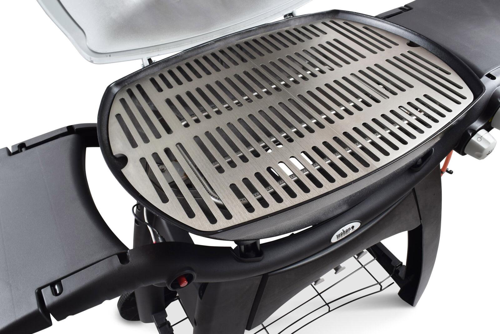 Edelstahl Grillroste und Grillplatten passend Weber Q100 Q200 Q300 Baureihe