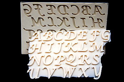 Sugarcraft molds,silicone fondant soap mold,MOLDB Clay,chocolate,Alphabet Large