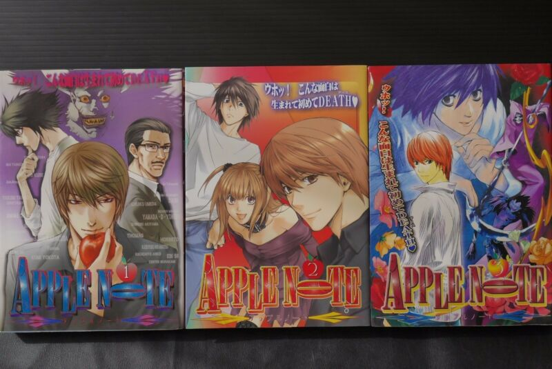 JAPAN Death Note manga Anthology Comic: Apple Note 1~3 Complete Set