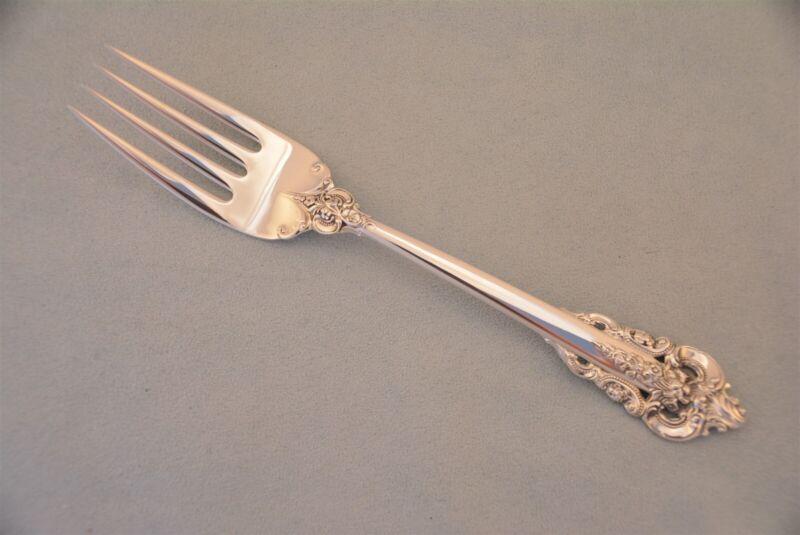 """Wallace Grande Baroque Sterling Silver 6-1/2"""" Salad Fork No Monogram"""