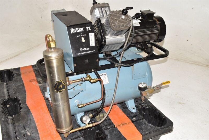 Air Techniques As22C Dental Air Compressor W/ 1 Year Warranty - REFURBISHED