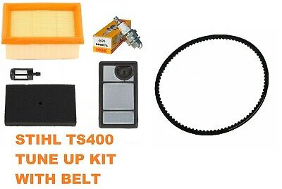 Air Fuel Filter Belt For Stihl Ts400 Cut Off Concrete Saw Ngk Plug