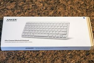 Anker ultra slim Bluetooth keyboard. - Rechargeable battery.