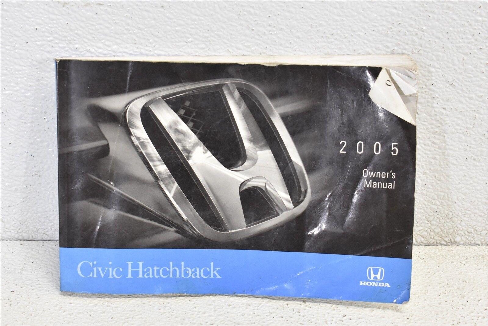 2005 Honda Civic Si Hatchback Owners Manual MT OEM 05