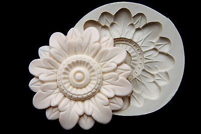 Flower Molding #11, Silicone Mold Chocolate Polymer Clay Jewelry Soap Wax Resin