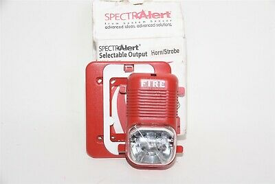 System Sensor Spectalert P1224mck Outdoor Fire Alarm Wall Hornstrobe Red