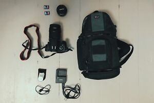Canon Rebel T4i + 2 Lens + Camera Bag