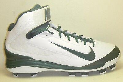 big sale 3935b d43d2 New Nike Air Huarache Pro Mid MCS Molded Baseball Cleats White Green Size 13