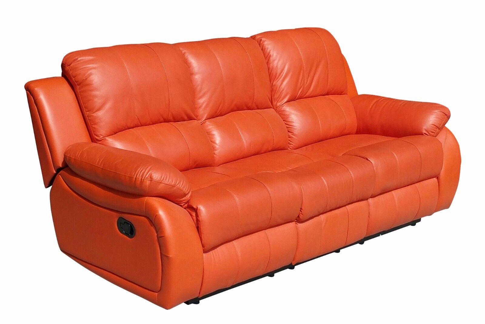 Voll leder couch sofas garnitur relaxsessel fernsehsessel for Couch garnitur